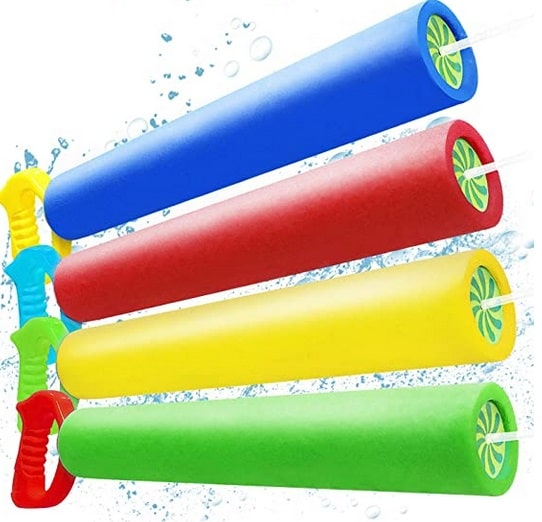 Abida 4 Packs Water Blaster Set Squirt Toys for Kids & Adults