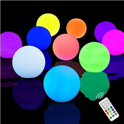 Chakev Floating Pool Lights 10 Pack