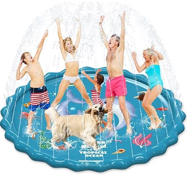 EPN Splash Pad, 67 Sprinkler Play Mat for Kids