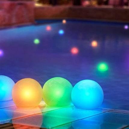 """Floating Lights for Pool (Set of 12) 3"""""""
