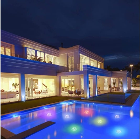 Floating Pool Lights 1PK, LED Color-Changing Underwater Pool Lights That Float