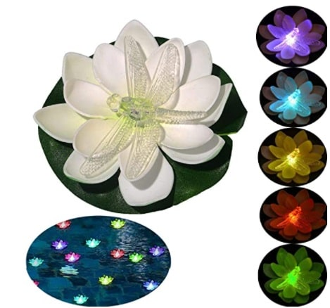 Floating Pool Lights,Battery Operated Floating Flowers
