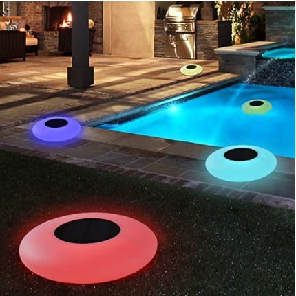 Swimming Pool Lights Solar Floating Light with Multi-Color LED Waterproof